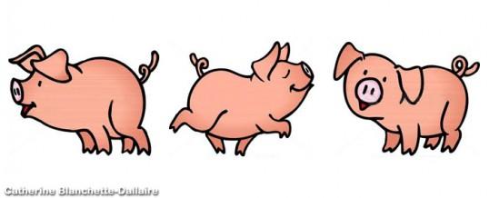 Les trois petits cochons qui roulaient cblanchette - Dessin des 3 petit cochon ...